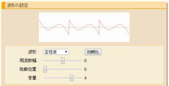 波形の設定