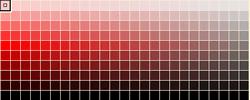 彩度と輝度のカラーチャート