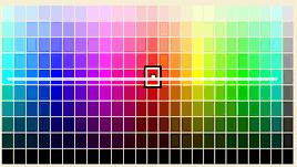 カラーチャートの色相